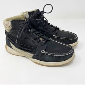 Sperry Top Sider Langley Leather Boots Black